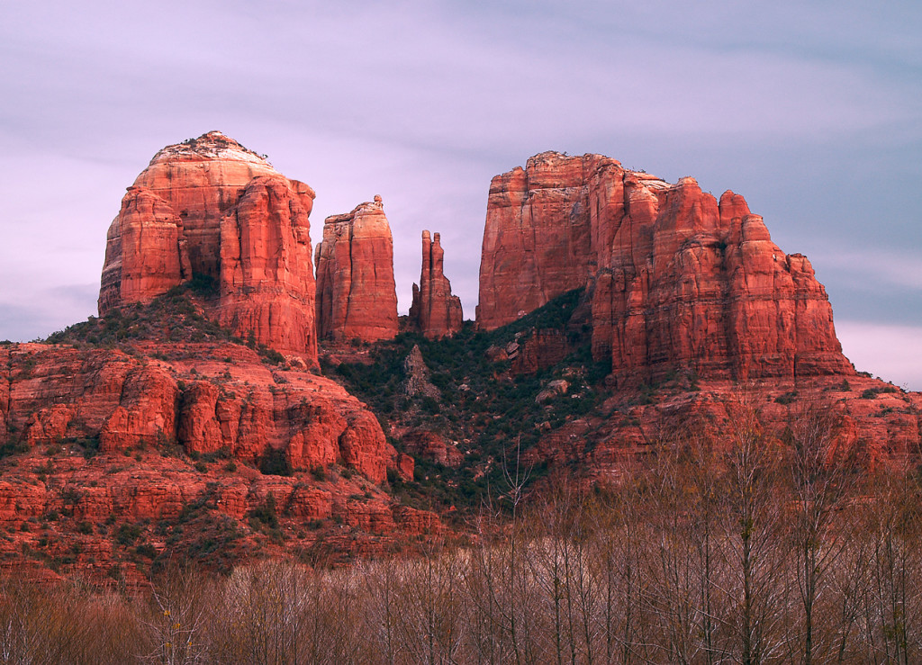 Beautiful sunset picture of Sedona, Arizona