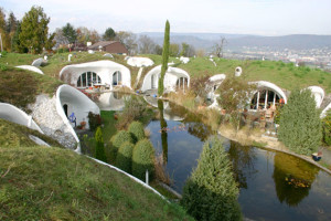 Underground hobbit home Eco Village in switzerland