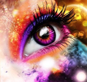 Eye looking at colors showing that Believing is Seeing