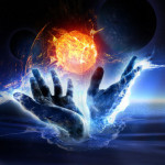 Hands creating new firey Earth demostrating that New Definitions Are Needed To Create a New World