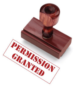 Stamp saying permission granted which is your permission slip to be who you choose to be