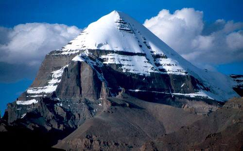 Stunning view of Mount Kailas the Third-Eye Chakra of Earth