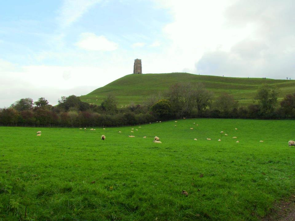 Beautiful view of Glastonbury England the Throat Chakra of Earth