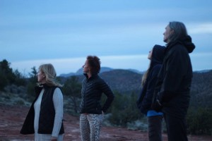Sedona Community Members looking to the sky