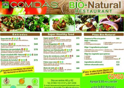 Bio Natural Menu