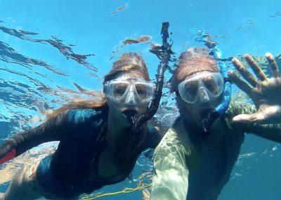 Sandra and Kirk Snorkeling