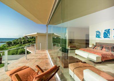 Villa Gauguin BR 1 Master bedroom has ocean views, private bath and balcony2