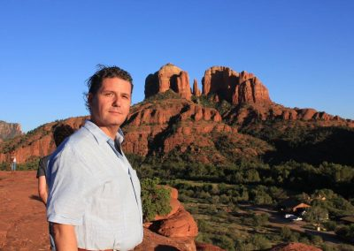 Corey Goode at Cathedral Rock on the Sedona Adventure