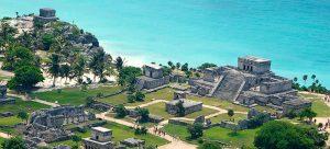 Tulum Ruins wide angle and overhead