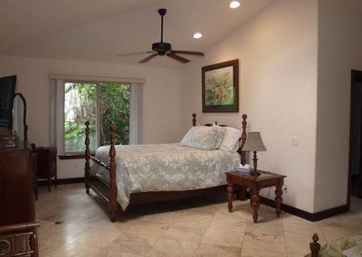 Typical single bed in suite
