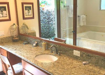 Typical suite bathroom vanity