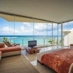 Villa Gauguin BR 1 Master bedroom has ocean views, private bath and balcony